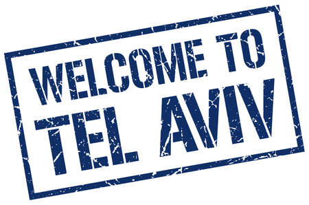 tel: welcome to Tel Aviv stamp