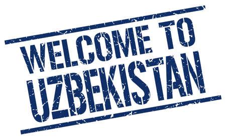 uzbekistan: welcome to Uzbekistan stamp