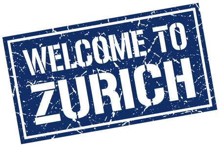 zurich: welcome to Zurich stamp Illustration