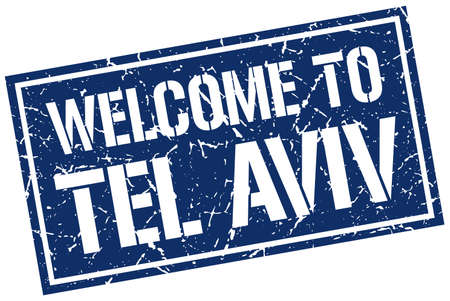 tel aviv: welcome to Tel Aviv stamp