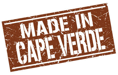cape: made in Cape Verde stamp