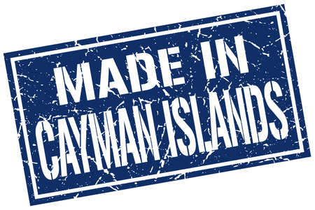 cayman islands: made in Cayman Islands stamp