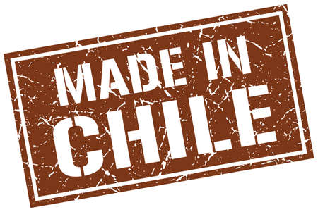 made in Chile stamp Illustration