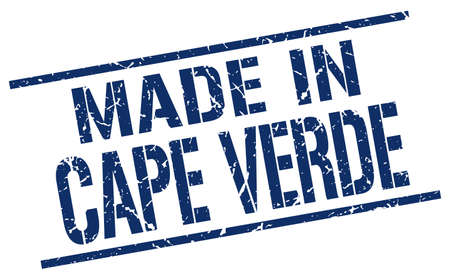 an        verde: made in Cape Verde stamp