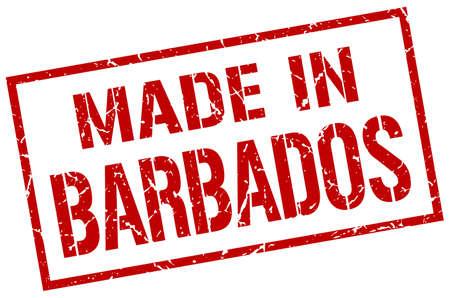 barbados: made in Barbados stamp Illustration