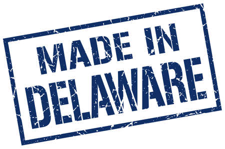 made in Delaware stamp Фото со стока - 62538626