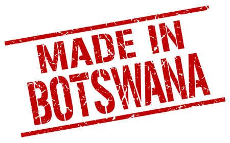 botswana: made in Botswana stamp