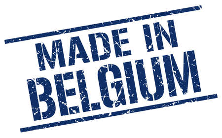 made in belgium: made in Belgium stamp Illustration