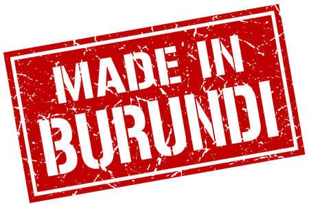 burundi: made in Burundi stamp