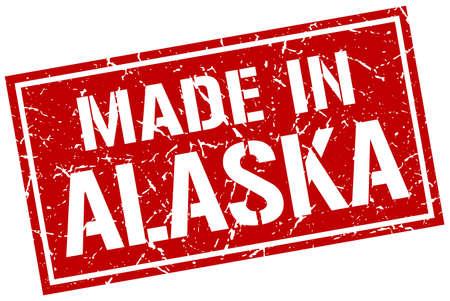 alaska: made in Alaska stamp Illustration