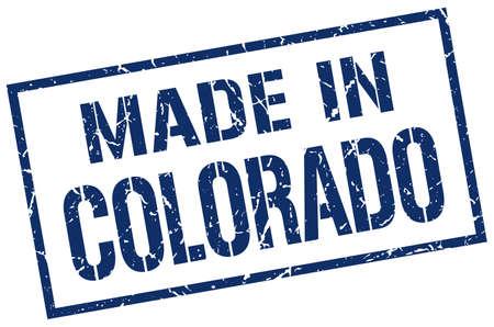 colorado: made in Colorado stamp Illustration