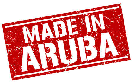 aruba: made in Aruba stamp