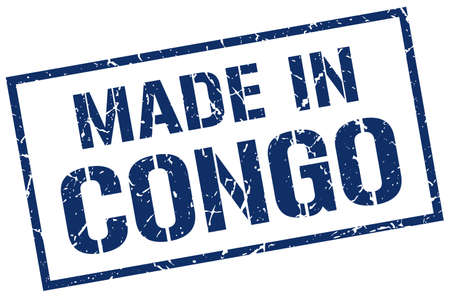 Congo: made in Congo stamp