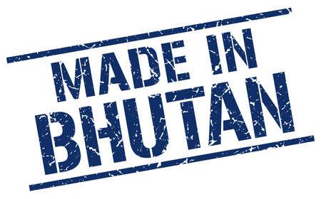 bhutan: made in Bhutan stamp