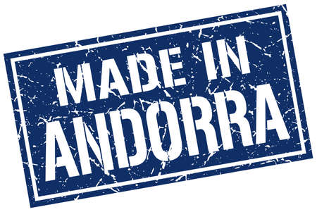 andorra: made in Andorra stamp Illustration