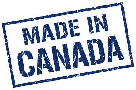 canada stamp: made in Canada stamp Illustration