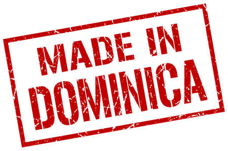 dominica: made in Dominica stamp Illustration