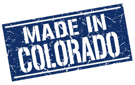 Made In Colorado Stamp Stock Vector