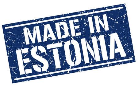 estonia: made in Estonia stamp Illustration