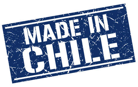 chile: made in Chile stamp Illustration