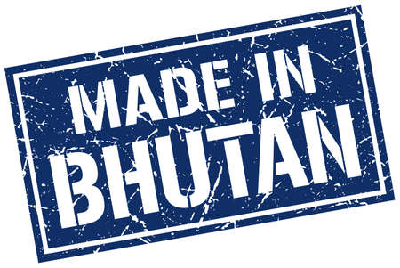 bhutan: made in Bhutan stamp