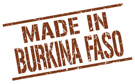 burkina faso: made in Burkina Faso stamp Illustration