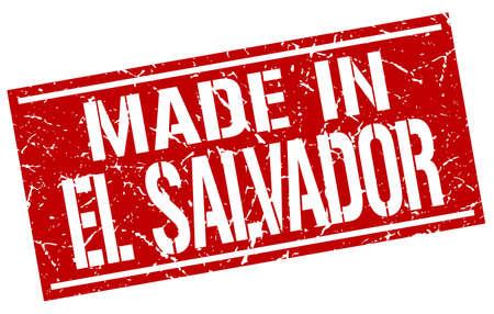 el: made in El Salvador stamp
