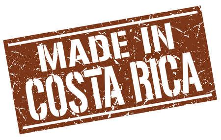 costa rica: made in Costa Rica stamp Illustration
