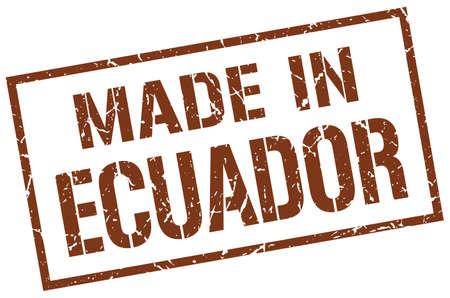ecuador: made in Ecuador stamp