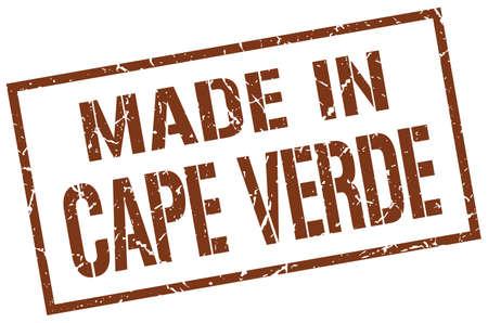 verde: made in Cape Verde stamp