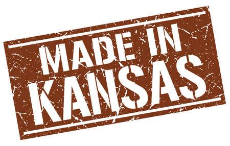 KANSAS: made in Kansas stamp