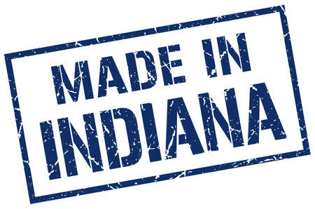 indiana: made in Indiana stamp