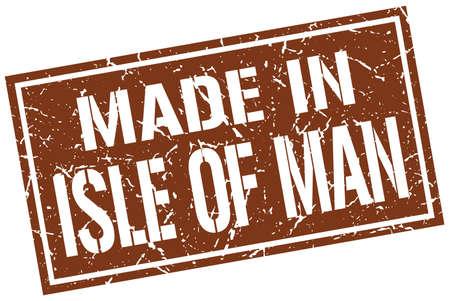 man made: made in Isle Of Man stamp