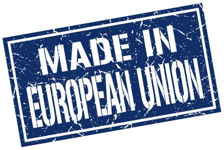 european union: made in european union stamp