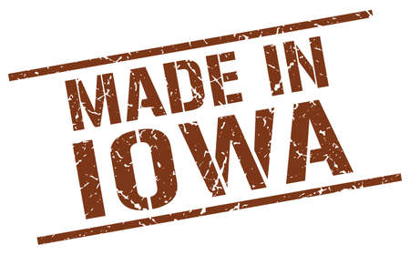 iowa: made in Iowa stamp Illustration