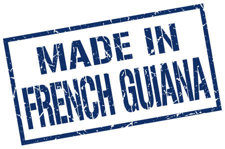 french produce: made in French Guiana stamp