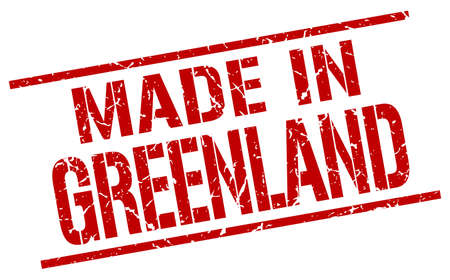 greenland: made in Greenland stamp Illustration