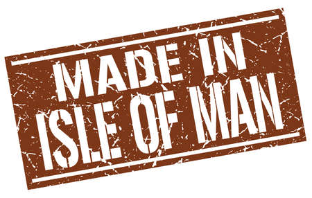 isles: made in Isle Of Man stamp