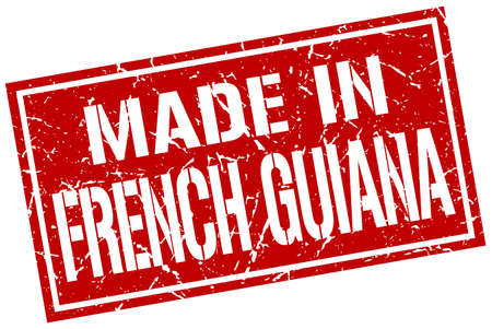 made in French Guiana stamp