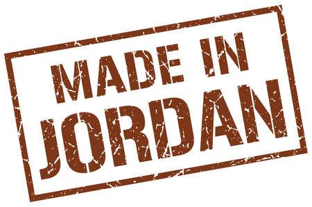 jordan: made in Jordan stamp Illustration