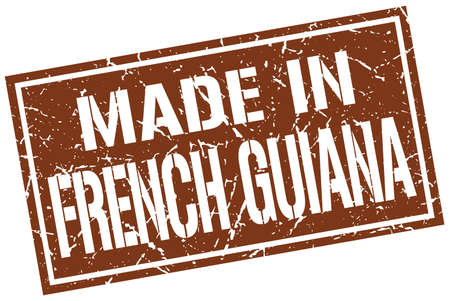 french guiana: made in French Guiana stamp