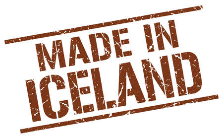 iceland: made in Iceland stamp