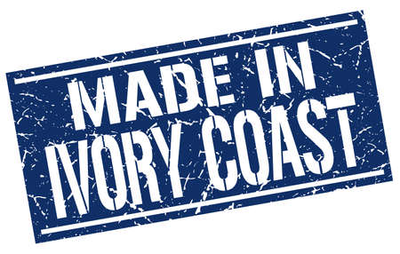 ivory: made in Ivory Coast stamp