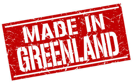 greenland: made in Greenland stamp Illustration