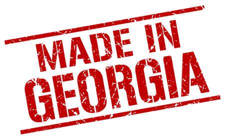 georgia: made in Georgia stamp Illustration
