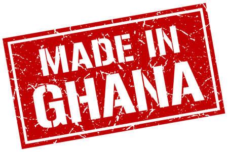ghana: made in Ghana stamp Illustration