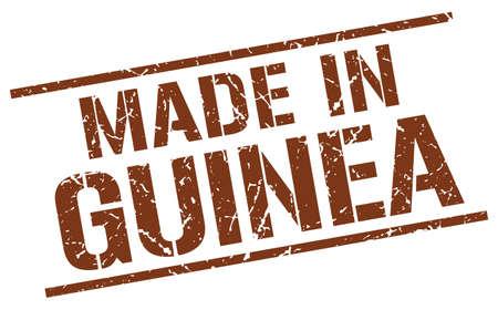 guinea: made in Guinea stamp Illustration
