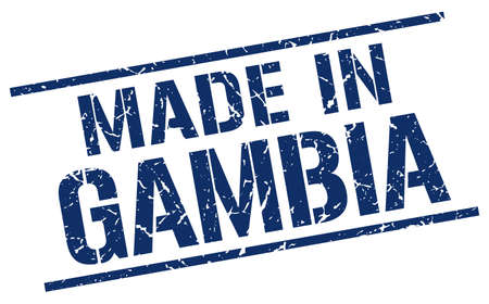gambia: made in Gambia stamp Illustration