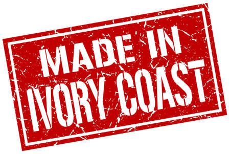produced: made in Ivory Coast stamp