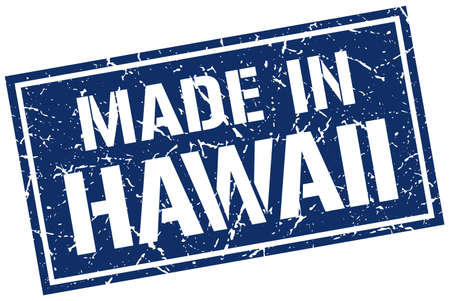 produced: made in Hawaii stamp